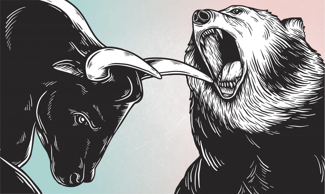 Luta entre o touro e o urso no mercado financeiro